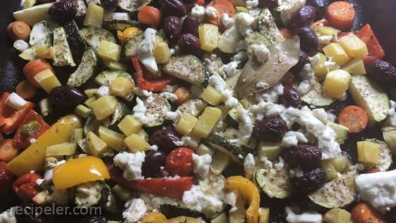 Sheet Pan Vegetable Dinner with Feta