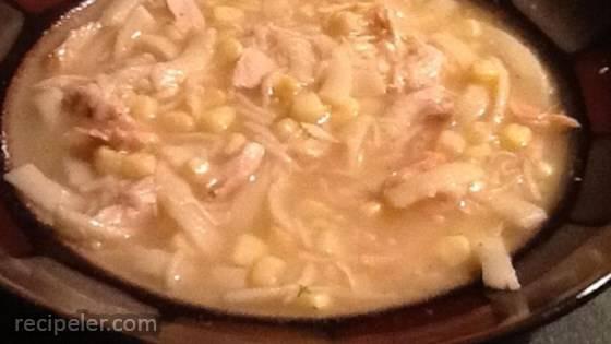 Short-Cut PA Dutch Chicken Corn Soup