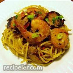 Shrimp And Andouille Sausage With Mustard Sauce