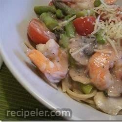 Shrimp and Mushroom Angel Hair Pasta