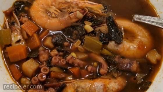 Shrimp and Octopus Soup (Caldo de Camaron y Pulpo)