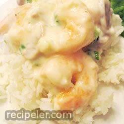 Shrimp in Sherry Cream Sauce