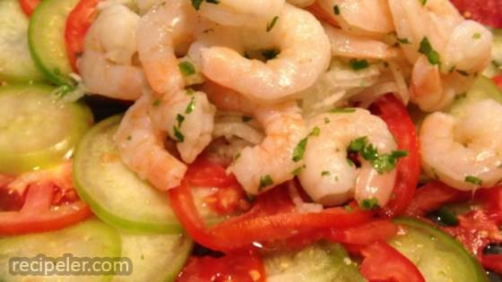 Shrimp, Jicama and Chile Vinegar Salad