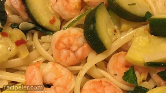 Shrimp Spaghetti in Olive Oil Dressing