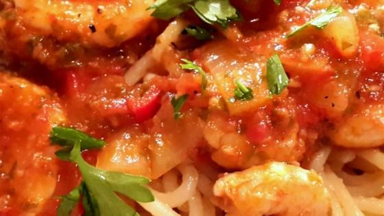 Shrimp Spaghetti With Tomato Sauce