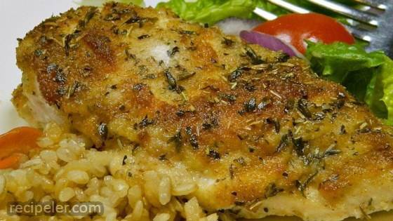 Simple Chicken Mayo with Parmesan and Bread Crumbs