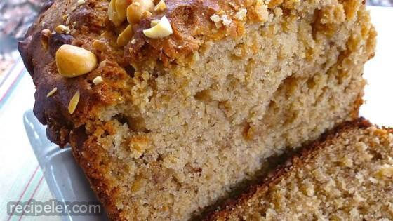 Simple Peanut Butter Banana Bread