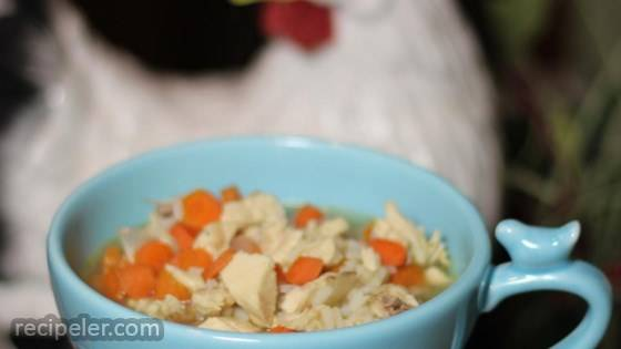 Simply Delicious Chicken Rice Soup