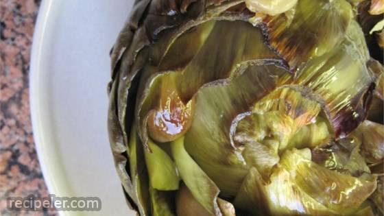 Simply Roasted Artichokes