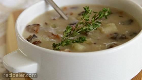 Skinny Cream of Mushroom Soup