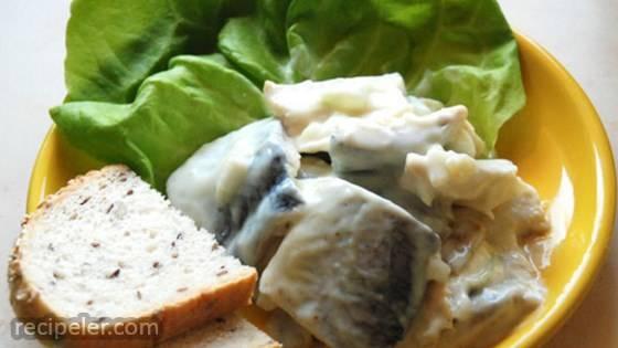 Sledzie w Jogurcie (Herring in Yogurt Dressing)