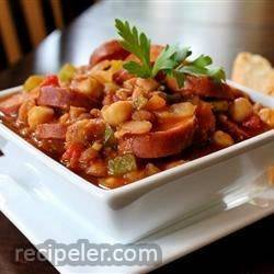 Slow-cooker Baked Bean Stew