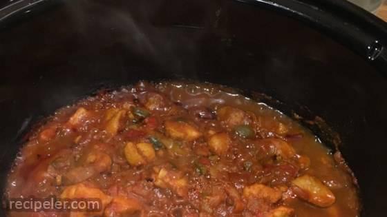 Slow Cooker Chicken Jalfrezi