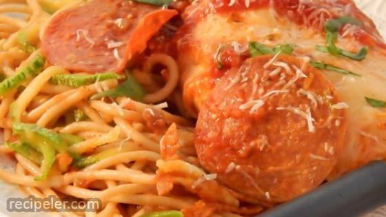 Slow Cooker Chicken Pepperoni