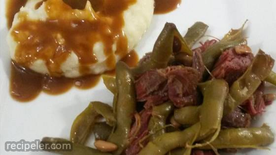 Slow Cooker Cured Venison and Beans