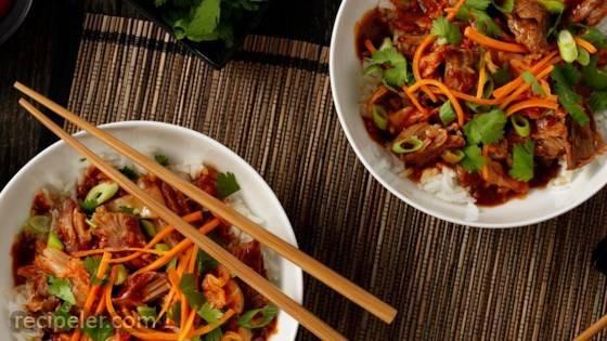 Slow Cooker Korean BBQ Pork Bowl