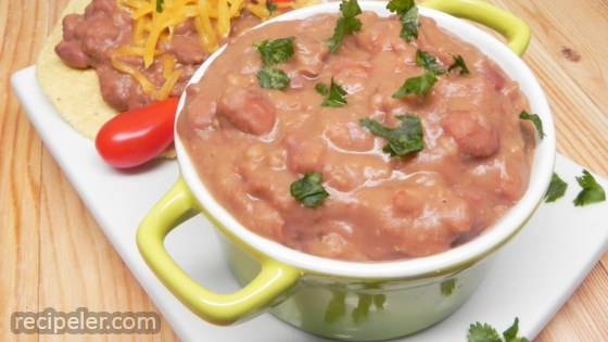 Slow Cooker Refried Beans with Bacon
