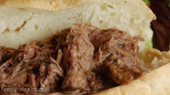 slow cooker talian beef for sandwiches