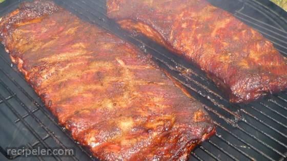 Slow Smoked Pork Spareribs