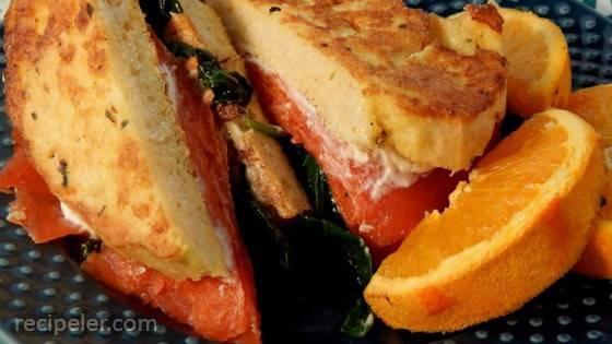 Smoked Salmon French Toast Sandwich