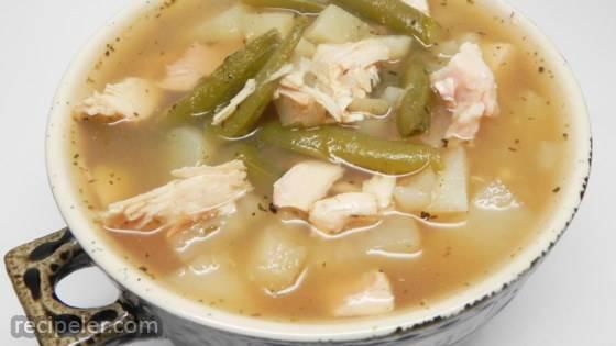 Smoked Turkey Wing Soup