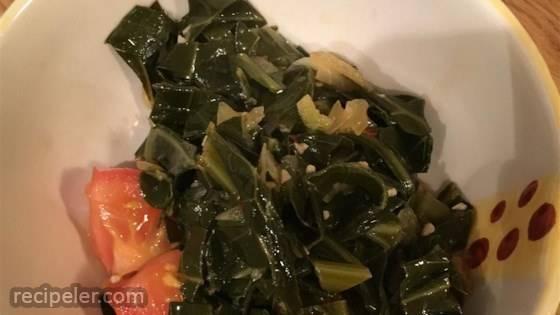 Smoky Vegetarian Collard Greens