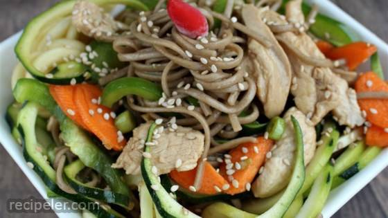 Soba Noodle Salad with Chicken and Sesame