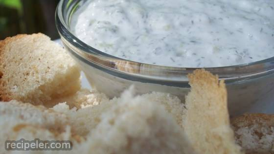 Sour Cream, Cucumber and Dill Dip