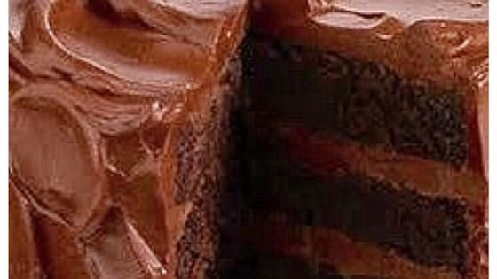 sour cream dark chocolate cake