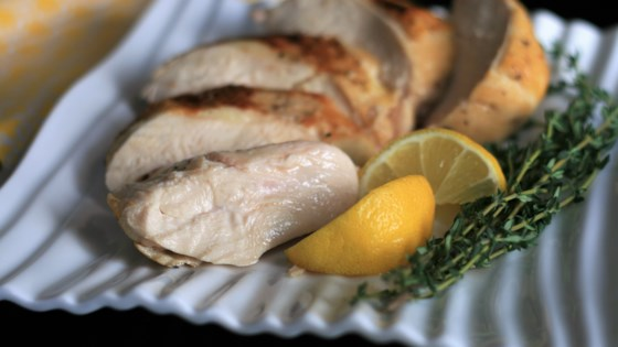 sous vide chicken breast with lemon and herbs