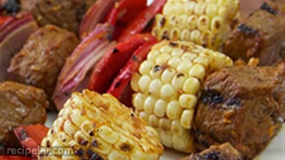 Southwest Steak and Corn Kabobs