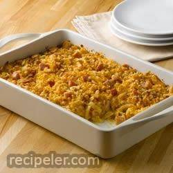 Southwestern Ham and Cheese Party Potatoes