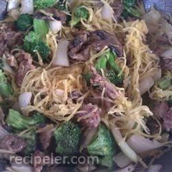 Spaghetti Squash with talian Sausage, Broccoli, and Sage