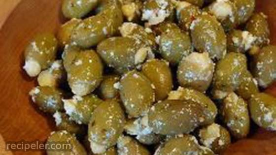 Spanish Stuffed Olive Tapas with Feta