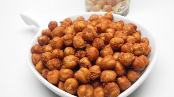 spiced air-fried chickpeas