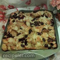 Spiced Cranberry Bread Pudding