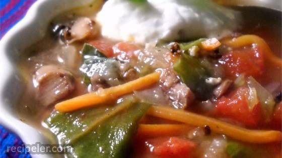 Spicy and Creamy Vegetable Soup