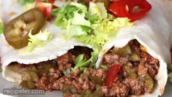 Spicy Beef Burritos