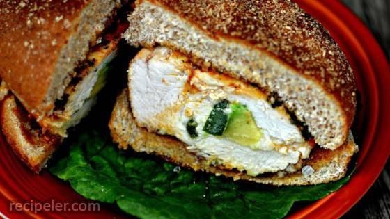 Spicy Grilled Stuffed Chicken Breast Sandwich