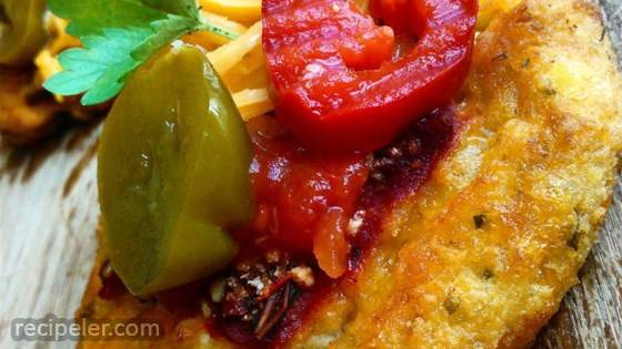 Spicy Jalapeno Cheese Pepper Potato Patties