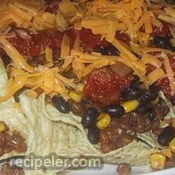 spicy lentil nachos