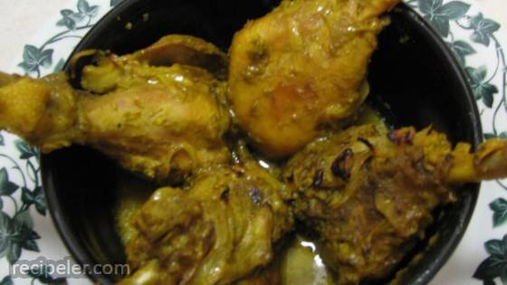Spicy ndian Chicken with Green Masala