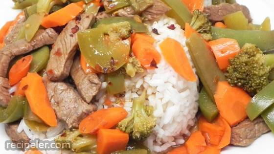 Spicy Sweet Steak Stir Fry