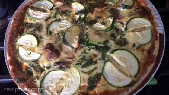 Spinach Mushroom Quiche with Tarragon