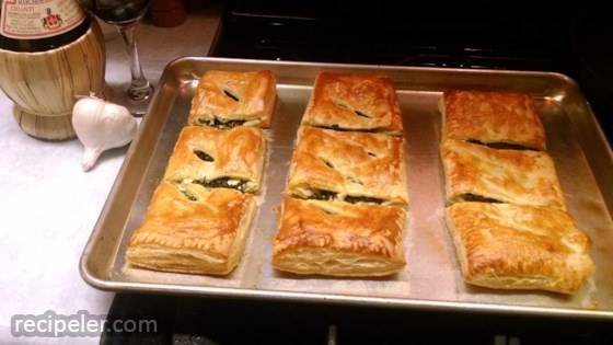 Spinach Rolls with Puff Pastry