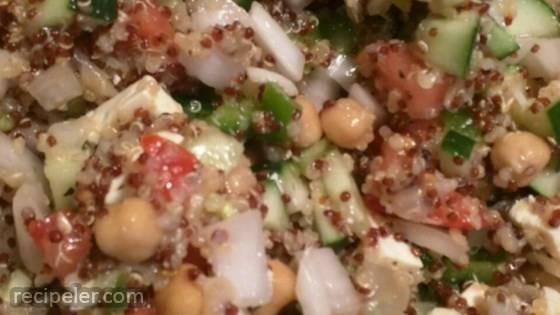 Spinach, Tomato, and Feta Quinoa Salad