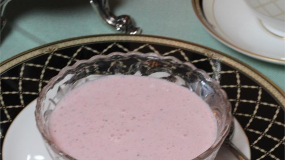 spring tea strawberry soup