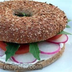 Spring Veggie Bagel Sandwich