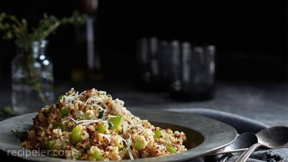 Sprouted Quinoa Savory Pilaf