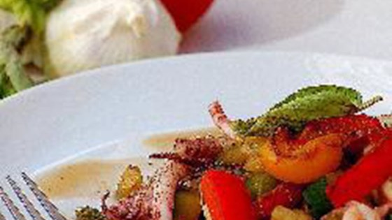 squid with mixed vegetables